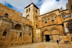 Thinkstock -- The Church of the Holy Sepulchre  Also called the Church of the Resurrection by Eastern Orthodox Christians, this church is located within the Old City of Jerusalem. According to tradition, it marks the site of Jesus' Crucifixion, burial and Resurrection.   A Holy Week Journey from the Last Supper to Easter As we journey through Holy Week, from Palm Sunday through Good Friday to Easter Sunday, these photographs from the Holy Land offer inspiration and a glimpse of the land…