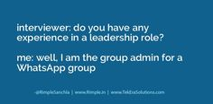 Leadership skills in