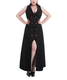 Look what I found on #zulily! Black Gothic Coat - Plus Too #zulilyfinds