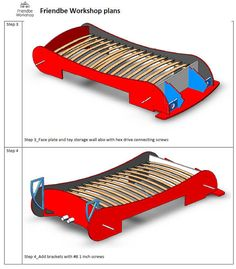 DIY plans twin Race car bed plans twin size by FriendbeWorkshop Lightning Mcqueen Bed, Batman Bed, Car Themed Rooms, Gold Headboard, Ready Bed, Kids Bed Design, Race Car Bed, Bed With Slide, Sofa Frame
