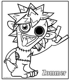 printable moshi monsters coloring pages for kids cool2bkids