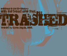 Download this super-cool eroded font from Fonts2u.com now. http://www.fonts2u.com/trashed.font