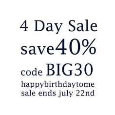 Super sale! 4 days only!