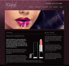 Introducing Malmo Costmetics - a stunning and elegant Joomla template for beauty salons, make up artists, fashion industry or cosmetics. This easy to use Joomla template is responsive, fast loading, h Joomla Templates, Easy To Use, Makeup Cosmetics, Beauty Makeup, Make Up, Lipstick, Elegant, Link, Board