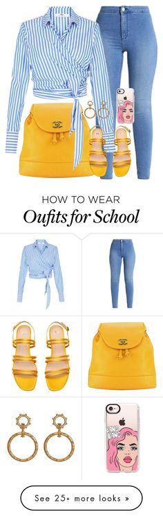 """""""Back to School"""" by matousadiya on Polyvore featuring Chanel and Casetify"""