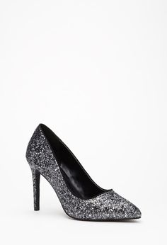 Pointed Glitter Pumps | Forever 21 Canada