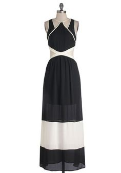 Wish someone would have a black and white affair so  coul wear this... Infinite Winsome Dress, #ModCloth