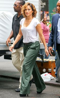 Jennifer Lopez from The Big Picture: Today's Hot Pics The Shades of Blue star has yet to wear a shade of blue it seems on the set of her upcoming cop drama!