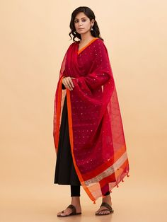 The Loom- An online Shop for Exclusive Handcrafted products comprising of Apparel, Sarees, Jewelry, Footwears & Home decor. Simple Kurta Designs, Kurta Designs Women, Stylish Dress Designs, Blouse Designs, Salwar Designs, Party Wear Indian Dresses, Dress Indian Style, Indian Outfits, Indian Wear