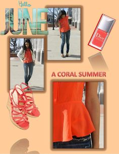 Work to play ZOA's coral structured peplum is perfect for the office or after work drinks. The pop of bold coral (a season must have) allows you to stand out in all the right ways, while the style of the shirt keeps you effortlessly classic……pair it with jeans, shorts or a pencil skirt!! For an extra punch keep in theme with coral sandals and nail color xxxxx…..