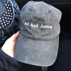 brandy melville uh huh honey baseball cap brandy melville uh huh honey baseball cap // NWT // feel free to offer and negotiate!! // ask about bundle deals ❤️ // i also sell on other selling platforms :-) // sold out everywhere and highly sought for ✨ Brandy Melville Accessories Hats