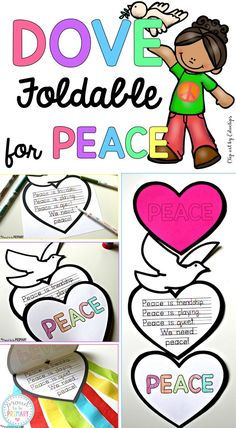 Beautiful Peace Craft: So Easy and Inspirational! - - Teach kids about peace in the classroom and create this FREE dove peace foldable writing craft for Remembrance Day, Veteran's Day, MLK Day, International Peace Day. Remembrance Day Activities, Remembrance Day Poppy, Poppy Craft For Kids, Art For Kids, School Lessons, Lessons For Kids, Writing Activities, Activities For Kids, Grief Activities