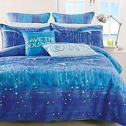 CATHIE MANEY SAVE THE DOLPHINS DOUBLE BED QUILT/DOONA COVER SET BNIP
