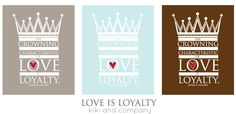 Love is Loyalty free printable at kiki and company #free #generalconference
