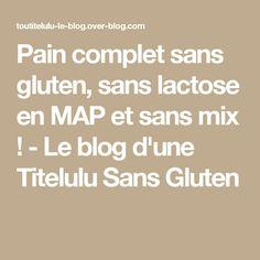 Pain complet sans gluten, sans lactose en MAP et sans mix ! - Le blog d'une Titelulu Sans Gluten