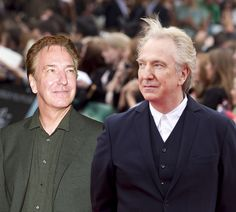 "Alan Rickman (Professor Severus Snape) | Then Vs. Now: The ""Harry Potter"" Cast At Their First And Last Premiere"