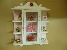 Small curio cabinet up-cycled to shabby by JerrisJackpot on Etsy