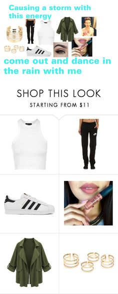 """""""Thunder and Lightning-Ricky Dillon"""" by emmagvance on Polyvore featuring Topshop, NIKE, adidas, WithChic, women's clothing, women, female, woman, misses and juniors"""