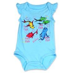8680780ea Dr Seuss 1 Fish 2 Fish Red Fish Blue Fish Aqua Baby Girl Creeper  #SpaceCityKids