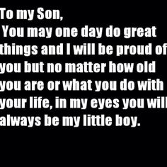 To: all 4 of my sons