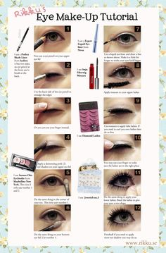 Eye make up tutorial with fake lashes Mascara Tips, How To Apply Mascara, Gyaru Makeup, Asian Makeup, Korean Makeup, Makeup Products, Makeup Tips, Beauty Makeup, Tutorials