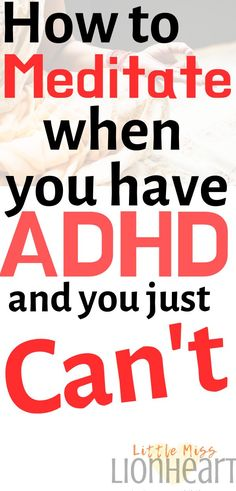 Practicing mindfulness meditation for ADHD can seem like an uphill battle. These strategies help anyone meditate. Adhd And Autism, Adhd Kids, Adhd Brain, Adhd Strategies, Adhd Symptoms, Adult Adhd, Anxiety Relief, Mindfulness Meditation, Coping Skills