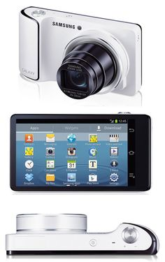 Samsung Galaxy Camera Phone // Part camera, part smartphone technology. Uses and even has voice command. High Tech Gadgets, New Gadgets, Cool Gadgets, Cool Technology, Technology Gadgets, Latest Technology, Smartphone Samsung, Samsung Galaxy, Samsung Camera