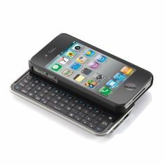 Amazon.com: Wireless Bluetooth Sliding Keyboard + Rubberized hard shell case for iphone 4 (AT&T or Verizon): Cell Phones & Accessories