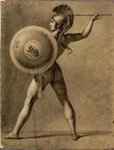 Antoine-Alphonse Montfort, Romulus, after Jacques-Louis David, (19th century).