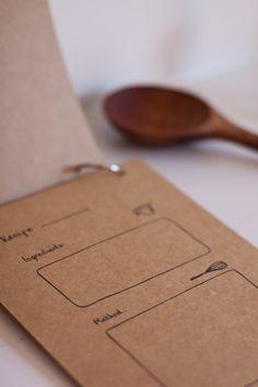 Hand Drawn Blank Recipe Cards. $15.00, via Etsy.