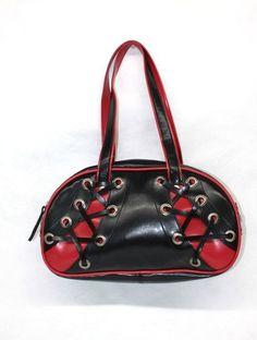 Fishy Blk Red Corset Purse Handbag Punk Tattoo Rock Rockabilly Goth Ebay