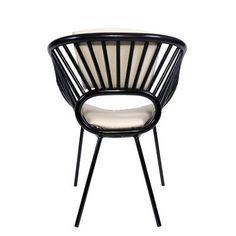 David Francis Furniture Aura Armchair Finish: Black