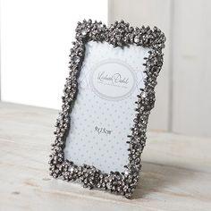 【北欧直輸入】リスベスダール アンティーク調クリスタルパールフォトフレーム (Lisbeth Dahl Frame antique silver crystals /pearls) [FR00157] #manonstore #LisbethDahl