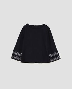 Image 8 of EMBROIDERED RUFFLED TOP from Zara