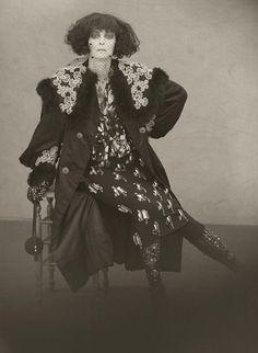 Tilda Swinton as Marchesa Casati. Photographs by Paolo Roversi for Acne