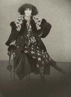 Tilda Swinton as Marchesa Casati.  Photographs by Paolo Roversi for Acne