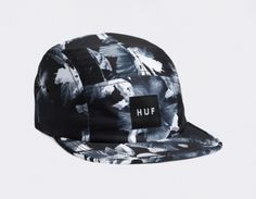 3a702fa3a9d2ca #HUF 5 Panel Black Floral Streetwear, Caps Hats, Baseball Cap, Snapback,