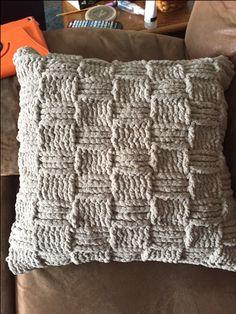 Crochet Basket Weave Pillow