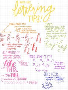 lettering tricks