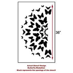 Pochoir papillon médaillon très bien pour par CuttingEdgeStencils