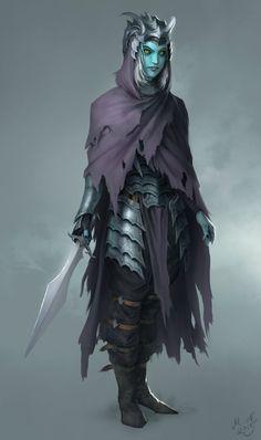 Khydál Tomb Guard, Magnus Norén on ArtStation at… Fantasy Races, Fantasy Warrior, Fantasy Rpg, Fantasy Artwork, Dark Fantasy, Fantasy Character Design, Character Design Inspiration, Character Concept, Character Art