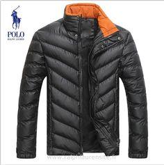 cf4b074aeb821 ralph lauren hommes manteau nouvelle coton mode pas cher noir ews Acheter Ralph  Lauren Pas Cher