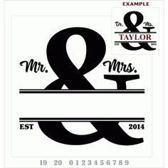 Silhouette Design Store - View Design #64041: split ampersand design