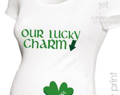 St. Patrick's Day Maternity Shirt Maternity by TheLittleReasons