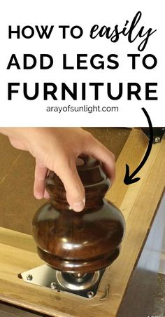 How to add legs to painted furniture (dresser, buffet, nightstand or end table)…. How to add legs to painted furniture (dresser, buffet, nightstand or end table). This is the easiest way to add height to furniture and give it a… Continue reading → Diy Furniture Renovation, Furniture Repair, Plywood Furniture, Cheap Furniture, Furniture Projects, Furniture Makeover, Painted Furniture, Furniture Design, Bedroom Furniture