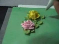 ▶ Roses with cream - YouTube