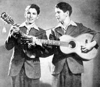 The Armstrong Twins were a bluegrass and country duo consisting of the twins Floyd and Lloyd Armstrong. They were born on January 24, 1930 in De Witt, Arkansas to a musical family, and active mostly in the 1940s and 1950s.