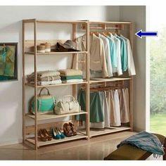 66 Premium Black Kitchen with Black Cabinets Ideas - HomeCNB Closet Bedroom, Bedroom Storage, Bedroom Decor, Open Wardrobe, Diy Wardrobe, Pallet Furniture, Furniture Design, Closet Designs, Easy Home Decor