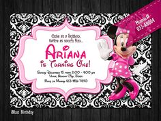 ASSORTED Minnie Invite for Minnie Mouse Birthday by iBlastBirthday, $10.00
