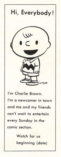 The Peanuts comic strip first began publication in October, 1950
